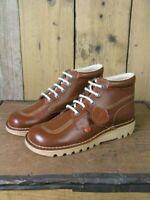 Kickers Mens Kick Hi Classic Dark Tan Brown Boots