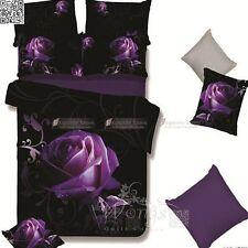 Purple Rose Duvet/Quilt Cover Set Queen King Size Bed Linen New Doona Covers