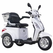 3 Wheeled ELECTRIC MOBILITY SCOOTER 48V 500W WHITE Tricycle 8 mph / 16 mph
