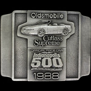 Oldsmobile Cutlass Supreme Pace Car Indianapolis Indy 500 NOS Vtg Belt Buckle