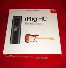 LOW PRICE! NEW IK MultiMedia i Rig iRig HD Studio Quality Guitar iOS iPhone iPad