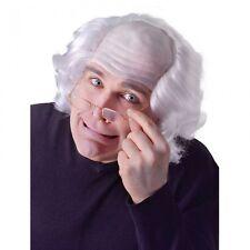 Adults Bald Old Man Wig Grandad Fancy Dress Costume Accessory
