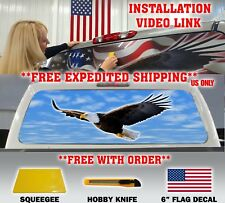 AMERICAN FLAG EAGLE PICK-UP TRUCK BACK WINDOW GRAPHIC DECAL PERFORATED TINT