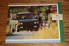 Original 1991 Land Rover Range Rover Foldout Sales Brochure 91