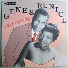 Gene and Eunice This is My Story LP R&B Soul Rock Blues Aladdin French
