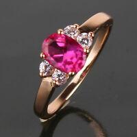 Eye-catching RUBY ring ! 18k  gold filled enchanting Ruby ring SzJ-SzR