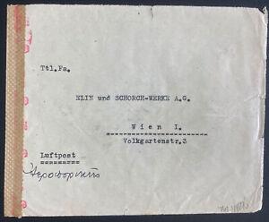 1943 Athens Greece Commercial Dual Censored Cover To Vienna Austria
