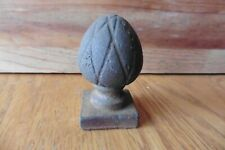 Cast Iron Finial Pine Cone style Vintage newel post topper Antique Paperweight