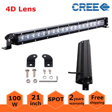 """4D+ Slim Single Row 21inch 100W LED Light Bar Offroad Ford Cars Driving Boat 20"""""""