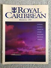Royal Caribbean 1997 Song Of America Bermuda Cruise Ship Brochure