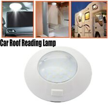 1PC Switch Control Round Interior 24LED Light Car Roof Reading Ceiling Lamp IP67