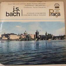 LP BACH 2 violin concertos Josef Suk + Ladislav Jasek, Vaclav Smetacek