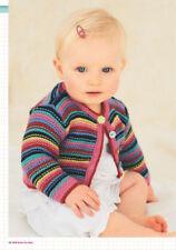 KNITTING PATTERN   stripe cardigan hat blanket  20 /26 inch chest dk