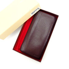 Bally Wallet Purse Long Wallet Brown Woman Authentic Used Y2904