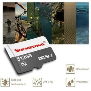 TF Flash Memory Card SD- Card 512GB Class 10 Card for Camera Mobile 7E4W