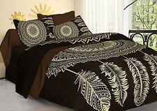 King Size 240TC Cotton Jaipuri Bedsheet With 2 Pillow Cover Set Bedding Set 3Pc
