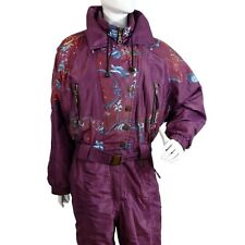 Vintage Retro Ski Suit All In One XL XXL Piece Womens 90'S