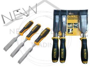 DeWalt Side Strike Wood Chisel Set 3 Pieces - Hardened, Carbon Chrome Steel