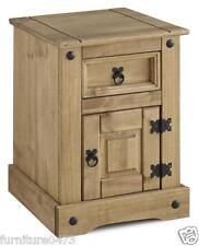 Solid Pine Petite 1 Door 1 Drawer Bedside Chest W43.5cm x D36cm x H58.5cm CORONA