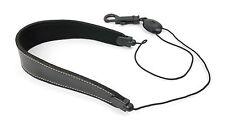 More details for black pu leather saxophone sax strap for soprano, windsor, alto, odyssey & reig