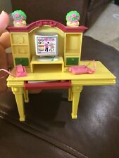 Fisher Price Loving Family Dollhouse Office Computer Phone Desk Keyboard 2006
