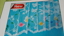 CAFE NET MEADOW BUTTERFLY 18INS or 12ins DROP £1.50 MT EYELET TOP READY MADE