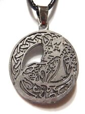 ARCTIC FOX PENDANT celtic knot wolf coyote norse viking runic animal necklace 1G
