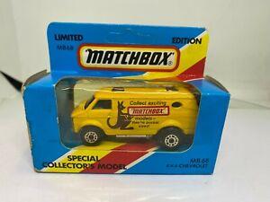 Matchbox Special Collectors Model MB68 4x4 Chevrolet 'Matchbox' Van - NEW