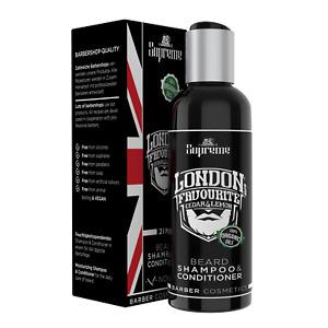 Bartshampoo mit Bio Bartöl-Conditioner Zedernholz Citrus Bartstoppel© Barbershop