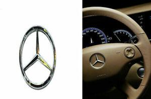 50MM-51MM for Mercedes-Benz steering wheel Center logo Silver  Emblem Paste