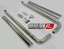 OBX Side Pipe Exhaust For 67 68 69 70 71 80 81 Camaro Firebird w/ Heat Shield
