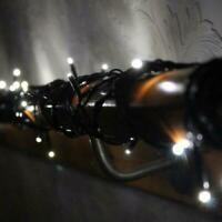 50 LED brite white fairy decorative lights Christmas XMAS plus free AA batteries