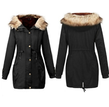 Winter Coats Women Jackets Fur Collar Thick Ladies Cotton Slim Outwear Female Pa