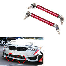 Universal Car Front Bumper Lip Splitter Rod Strut Tie Bar Support Kit JDM