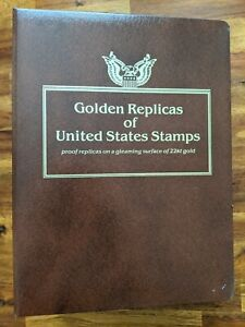 US Postal Commemorative 22K Gold Replica Stamp Collection 1996/97 - 57 Replicas