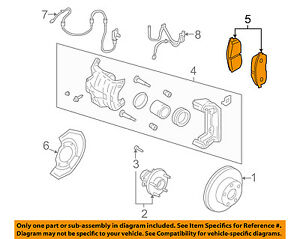 NISSAN OEM Brake-Front Pads D1060AM80B
