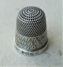 NO RESERVE HM 1926 Henry Griffiths Sterling Silver Thimble Vintage Antique