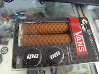 ODI VANS LOCK-ON FLANGELESS GUM MTB FIXIE FIXED BICYCLE GRIPS