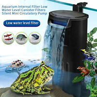 Aquarium Internal Filter Low Level Water Reptile Amphibian Fish Tank 220-240V