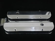 VALVE COVERS FABRICATED POLISHED ALUMINIUM PONTIAC 326 - 455