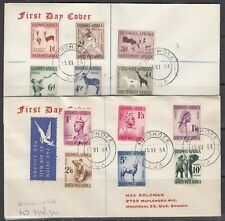South West Africa Scott 249-60 FDC - 1954 Definitive Issue