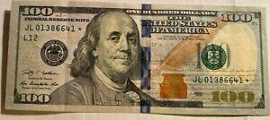STAR NOTE BLUE RIBBON $100.00 DOLLAR BILL 2009 # 3