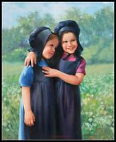 Amish Sisters - Chart Counted Cross Stitch Patterns Needlework DIY DMC Color