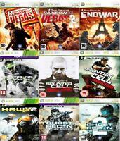 Xbox 360 Tom Clancy's Rainbow Six Ghost Recon Splinter Cell Xbox 360 - Fast Del