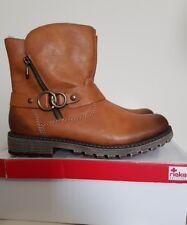 Ladies Rieker Warm-lined Utility Boots, UK7½, Tan Brown, BNIB