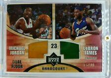 2006 UD HARDCOURT DUAL FLOOR Michael Jordan LeBron James GAME USED FLOORS #d /99