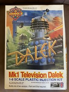 Doctor Who MK1 Televison Dalek Model Kit by Comet Miniatures Boxed - Started
