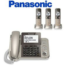Panasonic KX-TGF353N 1 Corded Handset + 3 Cordless Phone W/  Night Mode Brand