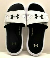 Under Armour Ingnite Slide White / Black US Size 5Y - FREE SHIPPING - BRAND NEW