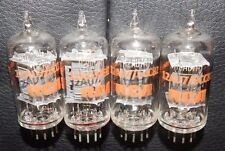NOS *AMAZING *QUAD MATCHED RCA 12AU7 ECC82 * CLEAR TOP [] SIDE GETTERS 4 PIECES